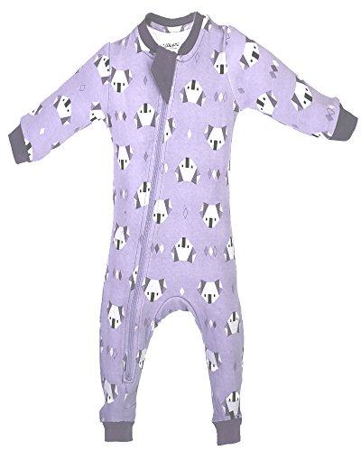 3cbd0f319d87 ZippyJamz Organic Baby Footless PJs w Inseam Zipper