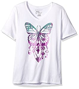 Just My Size Women's Plus Printed Short-Sleeve V-Neck T-Shirt