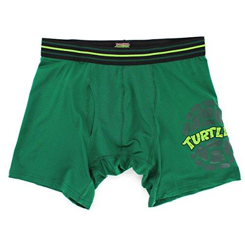 TMNT Ninja Turtles Mens Green Action Boxer Shorts (M 32/34)