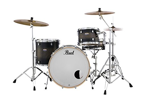 Pearl Decade DMP943XP/C262 3 Piece Drum Shell Pack, Satin Blackburst - Pearl Rock