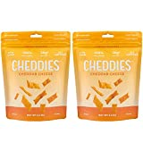 Cheap Cheddies Cheddar Crackers, NEW ITEM, High Protein, All Natural, Low Sugar, Healthy Snack (Pack of 2)