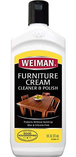 Weiman Wood Cleaner and Polish 8 fl. oz. - Use On Furniture, Wood Table Cleaner, Cabinet Restorer, Conditioner, - Bench Amish Set