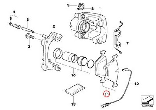 BMW OEM Textar Rear Brake Pads E90 E91 325 323i 325i 128i Active e 128i 323i 325i 325xi 328i 328xi 323i 328i 328xi 325xi 328i 328xi 328i 328xi 328i 328xi 328i 328i
