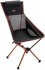 Cascade Mountain Tech Outdoor Lightweight Portable High Back Camp Chair with Headrest