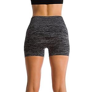 Premium Athletic Bike Shorts Yoga Pants (Medium, Black)