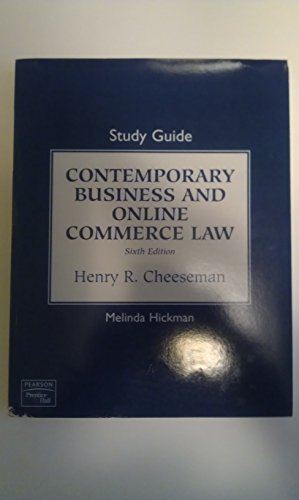 Study Guide for Contemporary Business and Online Commerce Law