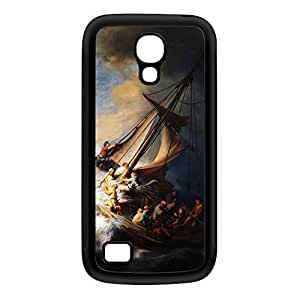 Christ in the Storm on the Lake of Galilee by Rembrandt Black Silicon Rubber Case for Galaxy S4 Mini by Painting Masterpieces + FREE Crystal Clear Screen Protector