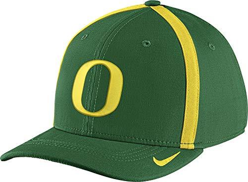 NCAA Oregon Ducks Apple Green Aerobill Swoosh Flex Classic99 Football Sideline Hat -