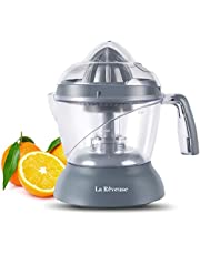 La Reveuse 25 oz/750 ml Electric Citrus Juicer for Grapefruit Orange Lemon Lime Juice, Grey