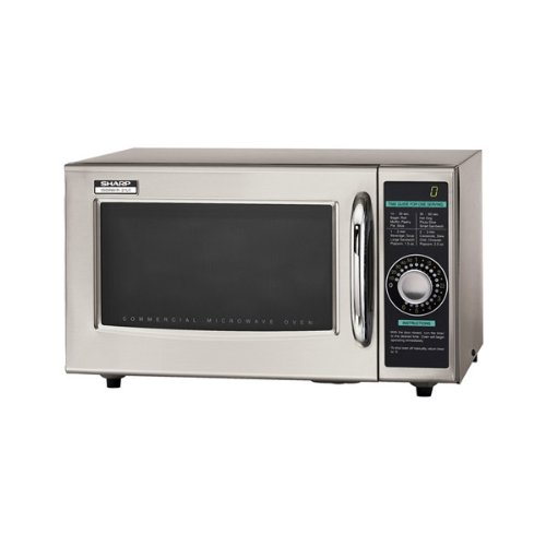 Sharp Electronics R-21LCF Microwave Oven, 1000 watts, stainless steel door timer (1)