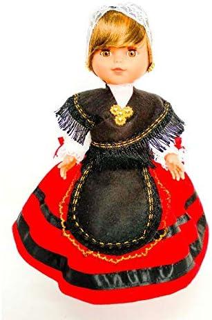 Amazon.es: Folk Artesanía Muñeca Regional colección de 35 cm Vestido típico Asturiana Asturias España, Nueva y Original.: Juguetes y juegos
