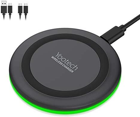 Yootech Wireless Charger,Qi-Certified 10W Max Fast Wireless Charging Pad Compatible with iPhone 11/11 Pro/11 Pro Max/XS MAX/XR/XS/X/8, Samsung Galaxy ...