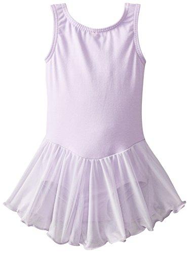 Clementine Apparel Girls' Little (2-7) Leotard Dress Sleeveless Tank One Piece Ballerina Top Dancewear Costume, Lilac, 4-6