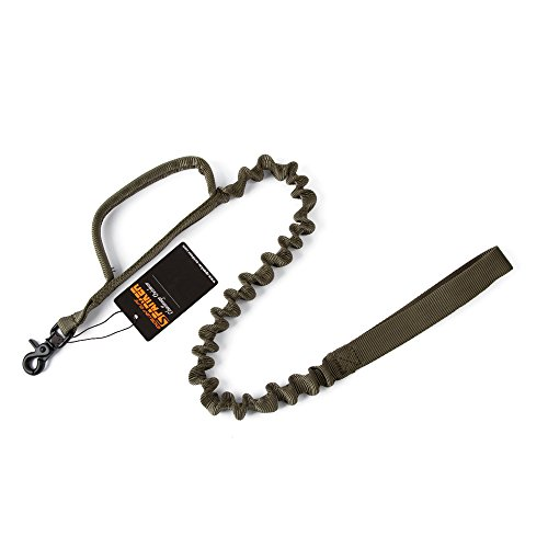 EXCELLENT ELITE SPANKER Tactical Bungee Dog Leash Military Police Dog Training Leash Rope with 2 Control Handle(Ranger Green) ...