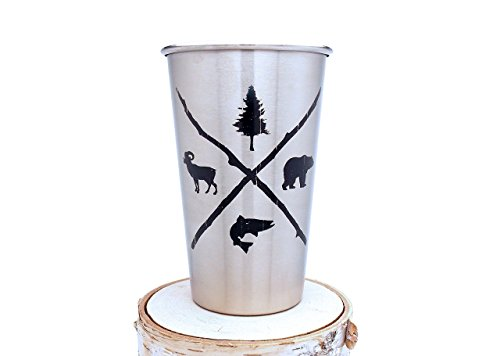 Stainless Steel Pint Glass - Wilderness Area