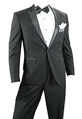 Slim Fit Tuxedo for Prom or Wedding - Available in Black or White