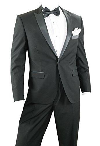 Verdamo Slim Fit Tuxedo for Prom or Wedding - Black, 34 (34 Tuxedo)