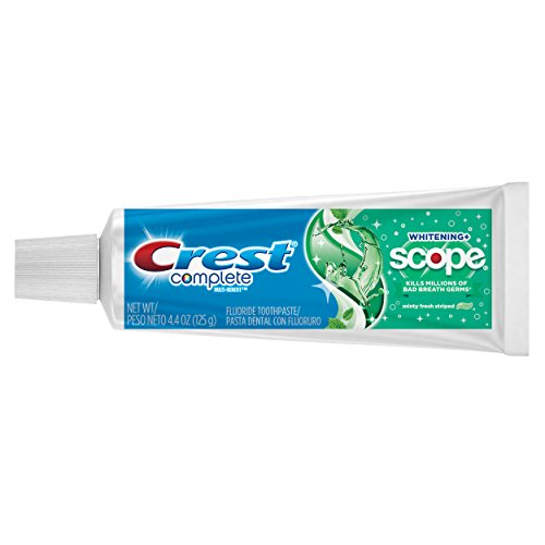 Crest Complete Whitening plus Scope Multi-Benefit Fluoride Toothpaste, Minty Fresh, 4.4 Ounce, Pack of 6