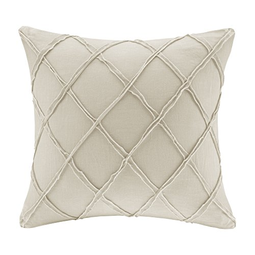 Harbor House Fashion Linen Throw Pillow, Casual Geometric Square Decorative Pillow, 18X18, Linen