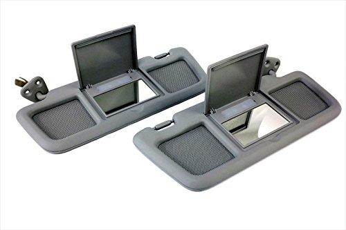 2004-2011 Mazda RX-8 Sun Visor Driver Left /& Passenger Right Sides Set Gray OEM