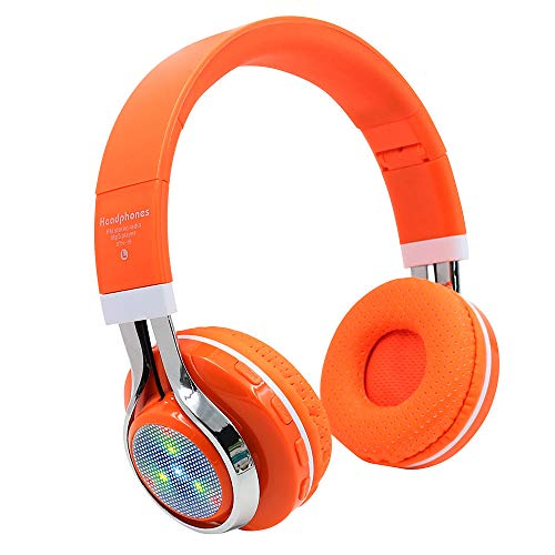 (Wowpower Wireless Headphones Bluetooth 4.1 Headset Noise Cancelling Earphone and Radio (Orange) )