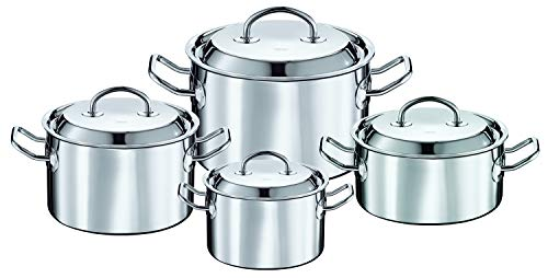 Rösle Cookware Set Multiply, 18/10 Stainless Steel, with Aluminium Core, 4 Pieces, 91690