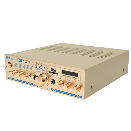 Tel Usb - HITSAN Teli BT-1228 Bluetooth 600W Karaoke Stereo 2CH Amplifier VU Meter Support FM USB SD with Remote One Piece