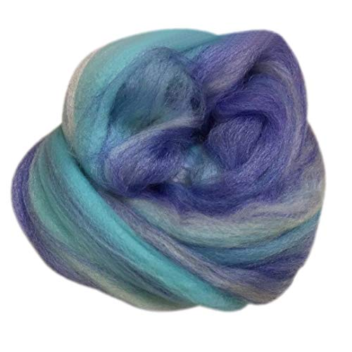 Transer Natural Soft Super Thick Fatty Chunky Merino Wool Arm Roving Bulky Yarn for Knitting, Crocheting, Weaving, Rug Making - 8.8 Ounce (E-A)