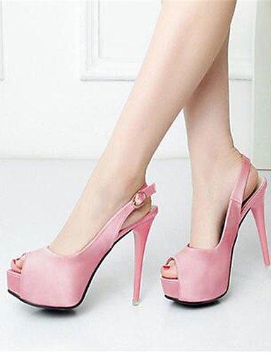 GGX/ Damen-High Heels-Lässig-PU-Stöckelabsatz-Absätze-Schwarz / Rosa / Weiß pink-us8 / eu39 / uk6 / cn39