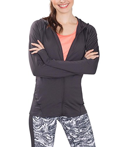 ESPRIT Sports Active/Training E-Dry Cardigan Laufjacke, Chaqueta Deportiva para Mujer Gris (ANTHRACITE 010)