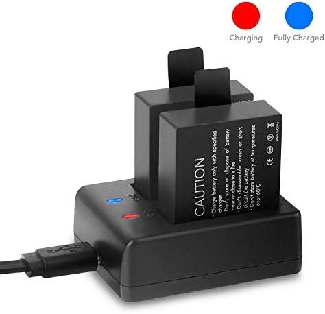 Victure 2PCS Pack Baterías Cámara de Accion Accesorio de Camara Deportiva Dual 1050mAh Recargables y Cable USB Cargador de Batería: Amazon.es: Electrónica