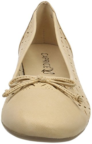 Caprice Damen 22128 Geschlossene Ballerinas Beige (Sand Nubuc 316)