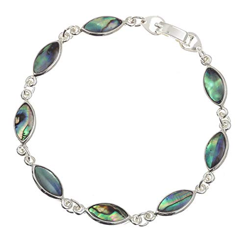 (Tide Jewellery Inlaid Abalone Paua Shell Bracelet in Presentation)