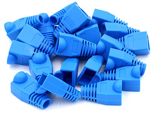 Covers Network Cable (iexcell 100 Pcs Blue RJ45 Ethernet Network Cable Strain Relief Boots)