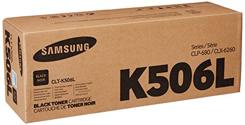 Samsung CLT-K506L Toner Cartridge Black, High Yield for CLP-680ND, 6250FD, 6260FR