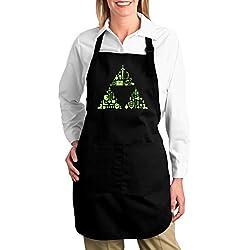 Zelda Triforce Canvas Cotton Apron Large Apron