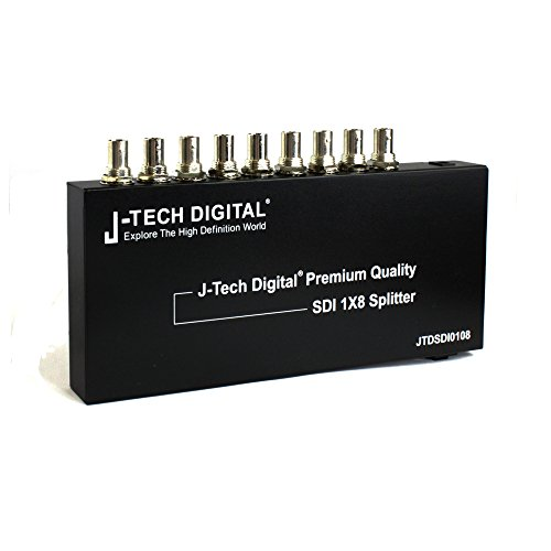 Sd Sdi Distribution Amplifier - J-Tech Digital Premium Quality SDI Splitter 1x8 Supports SD-SDI, HD-SDI, 3G-SDI up to 1320 Ft (1 Input and 8 outputs)