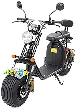 PEQUENENES Patinete Scooter EFLUX Harley 1500 W 60 V 20AH BATERIA Ion Litio