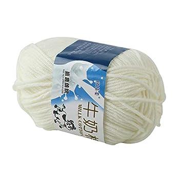 Weshcun Fil de laine /à tricoter en fibre de coton et fibre de lait pour canap/é couleurs arc-en-ciel m/élang/ées /écharpe laine tiss/ée /à la main 50 g red coussin