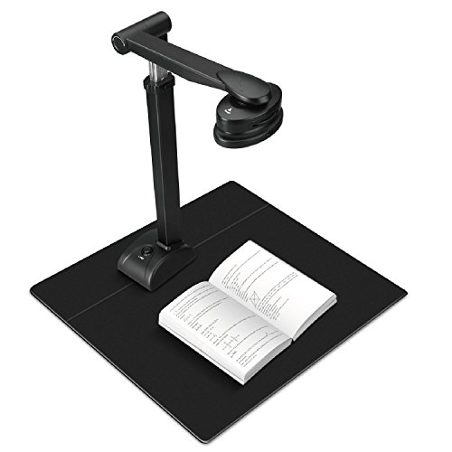 TNP Document Scanner Portable Book Camera OCR 3A Doc Cam Visualizer HD 5 Mega-Pixels Overhead Image Photo Picture High-Speed Reader w/ LED for Computer Library Classroom Teacher & Others