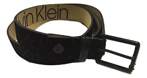 Hombre Calvin CINTURONES ADJ SUEDE K50K504137 EMB Black Klein rYxqCr