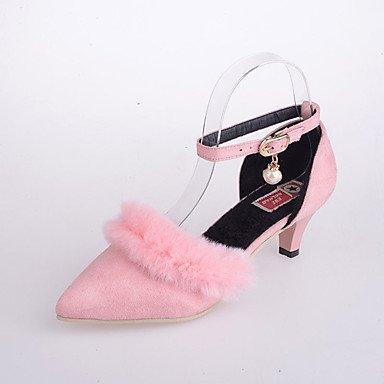 AIURBAG Da donna Tacchi Comoda Scamosciato Primavera Autunno Casual Formale Footing Comoda Pompon Basso Nero Grigio Rosa 5 - 7 cm