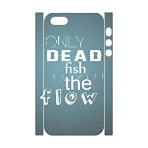 3D Funny Series, IPhone 5,5S Cases, Dead Fish Cases for IPhone 5,5S [White]