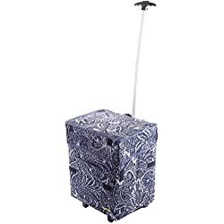 dbest products Smart Cart, Victorian Rolling Multipurpose Collapsible Basket Cart Scrapbooking