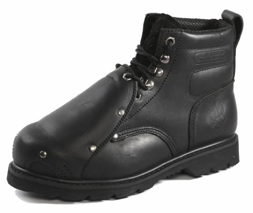 "Rhino Men's 6MS01 6"" Steel Toe Metatarsal Leather Work Boot,10.5 D(M) US,Black"