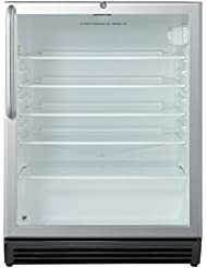 Summit SCR600BLCSS Beverage Refrigeration, Glass/Stainless-Steel