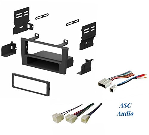 ASC Car Stereo Dash Install Kit and Wire Harness for Installing an Aftermarket Single Din Radio for some 2002 - 2005 Ford Thunderbird , 2000 - 2006 Lincoln LS