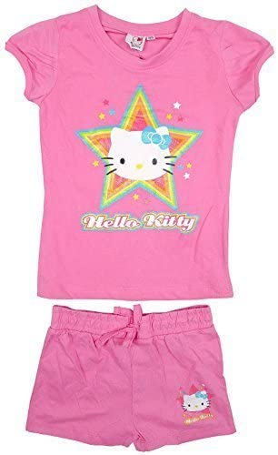 Niña Hello Kitty Camiseta Algodón Top Y Shorts Yummy Estrella Set ...