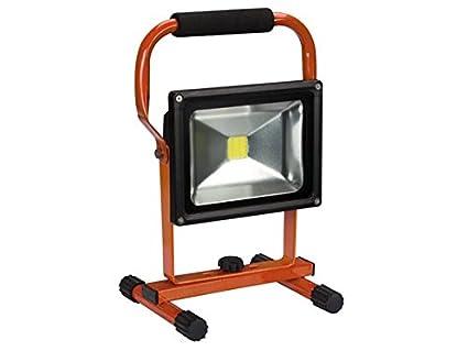 Perel ewl312cw-r Proyector de obra recargable LED 20 W 6500 K ...