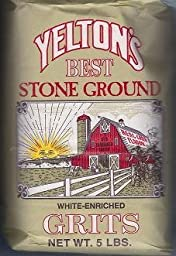 Yelton\'s Best Stone Ground White Grits - 5 lb Pack of 2